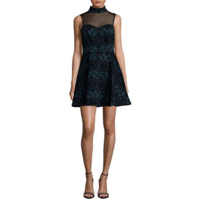 Trixxi Sleeveless Party Dress-Juniors