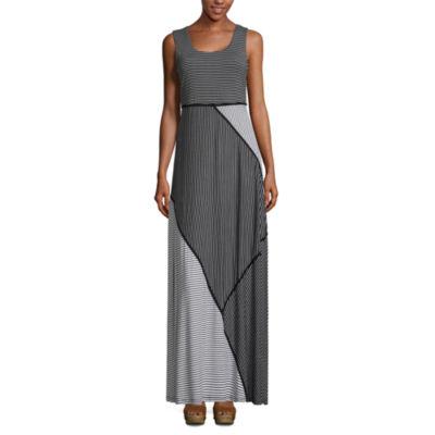 Spense Sleeveless Stripe Shift Dress
