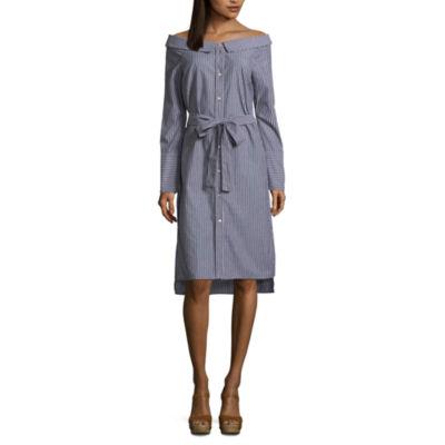 Renn Long Sleeve Shirt Dress