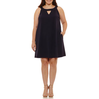 Sharagano Sleeveless Sheath Dress-Plus