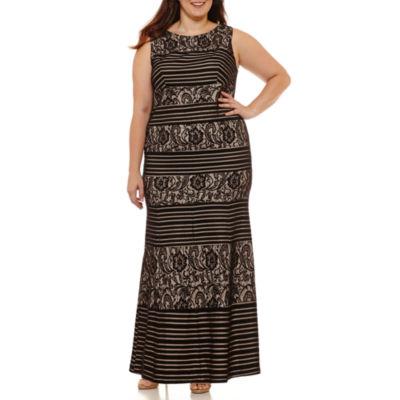 Melrose Sleeveless Evening Gown-Plus