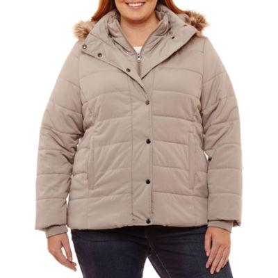 St. John's Bay Heavyweight Puffer Jacket-Plus