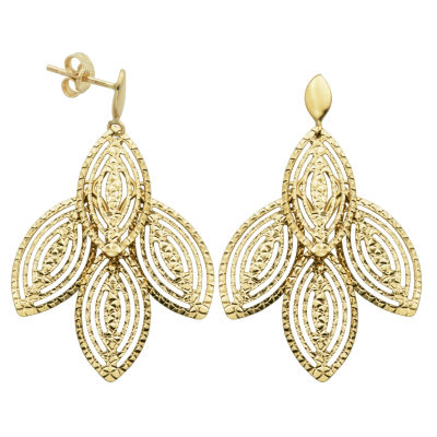 Made In Italy 14K Gold Chandelier Earrings