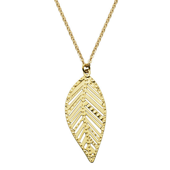 Made In Italy Womens 14K Gold Pendant Necklace