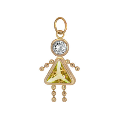 10K Gold November Birthstone Babies Girl Charm