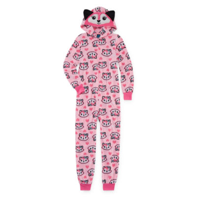 Jelli Fish Kids Long Sleeve One Piece Pajama-Big Kid Girls