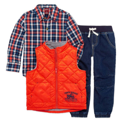 Arizona 3-pc. Checked Pant Set Boys