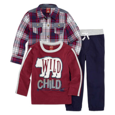Arizona 3-pc. Plaid Pant Set Boys