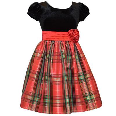 Bonnie Jean Short Cap Sleeve Party Dress - Big Kid Girls