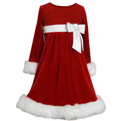 Bonnie Jean Long Sleeve Cap Sleeve Party Dress - Big Kid Girls