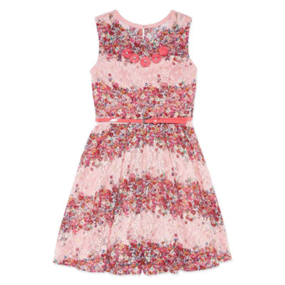 Knit Works Sleeveless Lace Skater Dress - Girls' 7-16