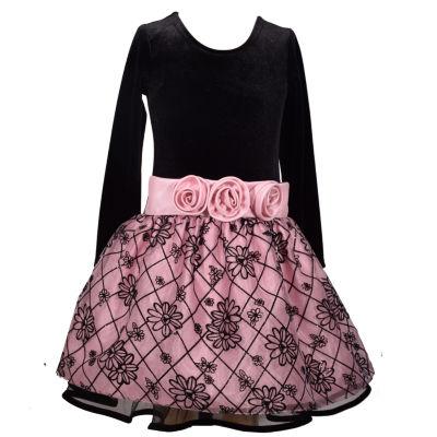 Bonnie Jean Long Sleeve Party Dress - Big Kid Girls