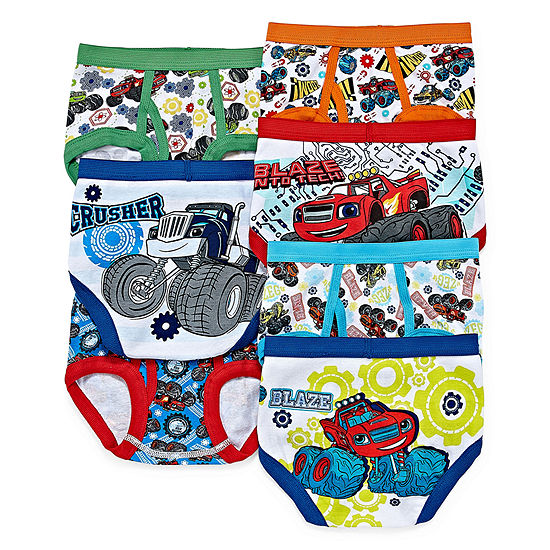 Toddler Boys 7 Pack Blaze and The Monster Machines Briefs