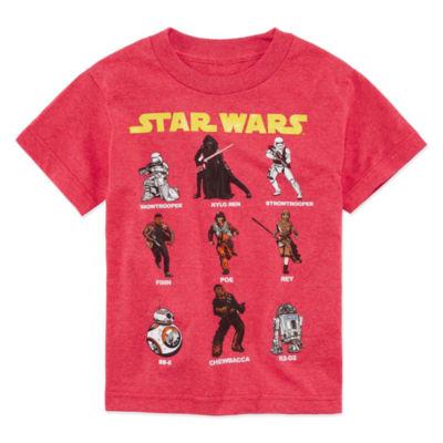 Short Sleeve Crew Neck Star Wars T-Shirt-Preschool Boys