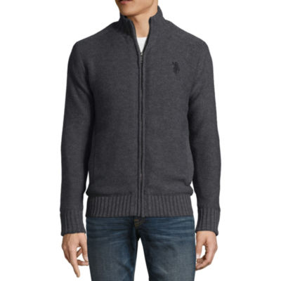 U.S. Polo Assn. Mens Mock Neck Long Sleeve Layered Sweaters