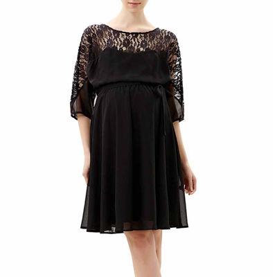 Glow & Grow Maternity Lace Top Flowy Dress
