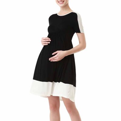 Glow & Grow Maternity Colorblock Skater Dress