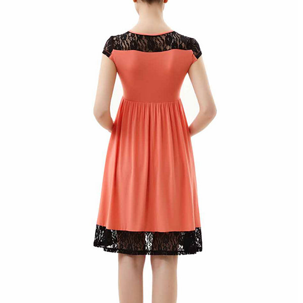 Glow & Grow Maternity Lace Insert Skater Dress