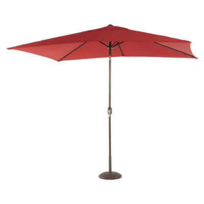 Outdoor Oasis 10ft Rectangular Cranktilt Market Patio Umbrella
