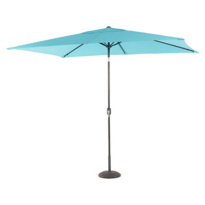 Outdoor Oasis 10ft Rectangular Cranktilt Market Patio Umbrella