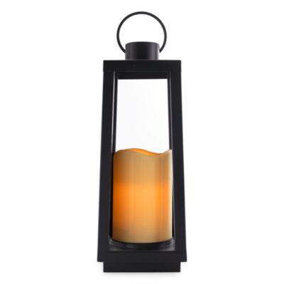 Outdoor Oasis Large Black Outdoor Lantern