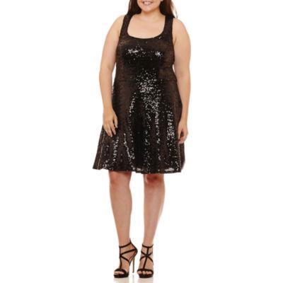 B. Darlin Sleeveless Party Dress-Juniors Plus