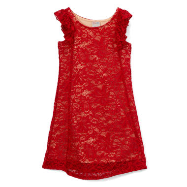 "Girl's ""Sophia"" Lace A-Line Dress"