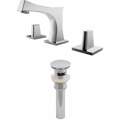 American Imaginations 8-in. o.c. CUPC Approved Brass Faucet Set In Chrome Color With Drain