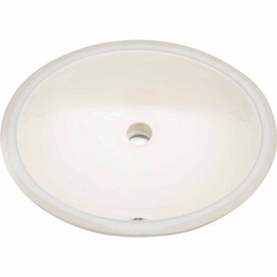 American Imaginations 19.75-in. W x 15.75-in. D Oval Undermount Sink In Biscuit Color