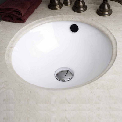 American Imaginations 16.5-in. W x 16.5-in. D Round Undermount Sink In White Color