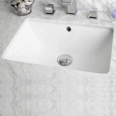 American Imaginations 18.25-in. W x 13.5-in. D Rectangle Undermount Sink In White Color