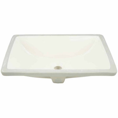 American Imaginations 20.75-in. W x 14.35-in. D Rectangle Undermount Sink In Biscuit Color
