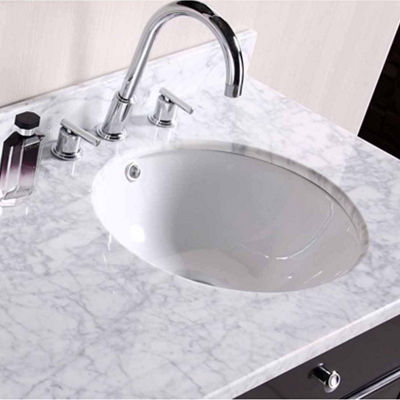 American Imaginations 15.25-in. W x 15.25-in. D Round Undermount Sink In White Color