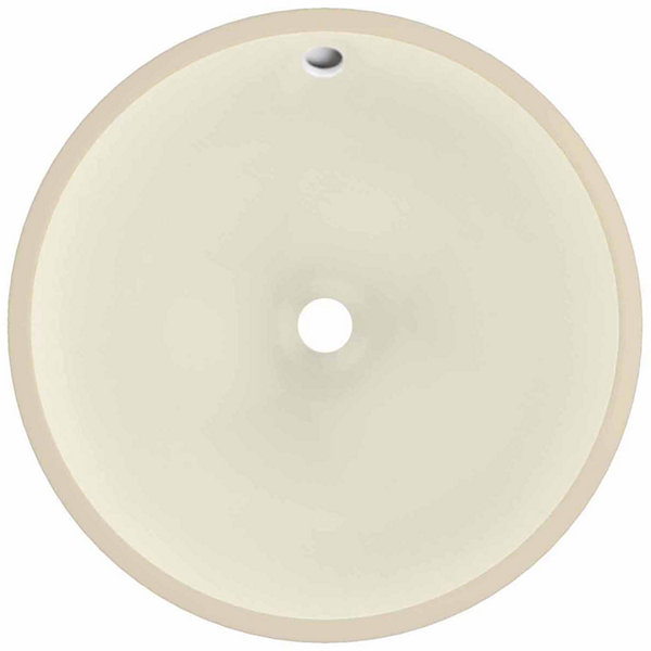 American Imaginations 16-in. W x 16-in. D Round Undermount Sink In Biscuit Color