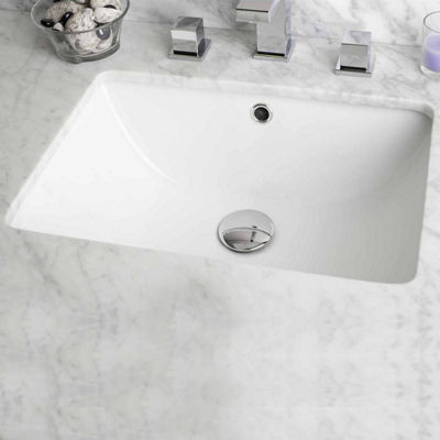 American Imaginations 18.25-in. W x 13.75-in. D CUPC Certified Rectangle Undermount Sink In White Color