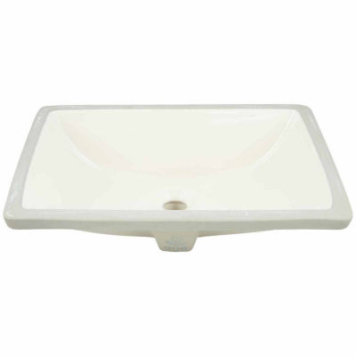 American Imaginations 18.25-in. W x 13.5-in. D CUPC Certified Rectangle Undermount Sink In Biscuit Color