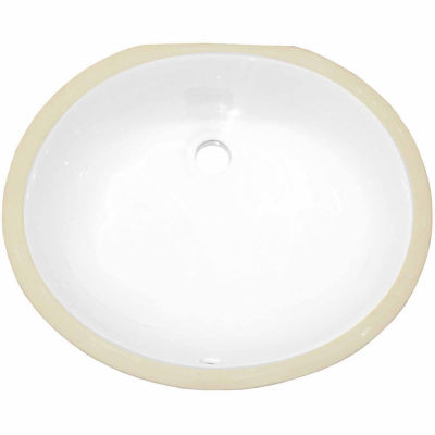 American Imaginations 19.5-in. W x 16.25-in. D CUPC Certified Oval Undermount Sink In White Color