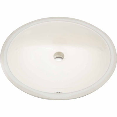 American Imaginations 19.25-in. W x 16-in. D CUPCCertified Oval Undermount Sink In Biscuit Color