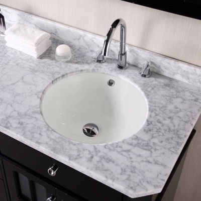American Imaginations 15.5-in. W x 15.5-in. D CUPC Certified Round Undermount Sink In Biscuit Color