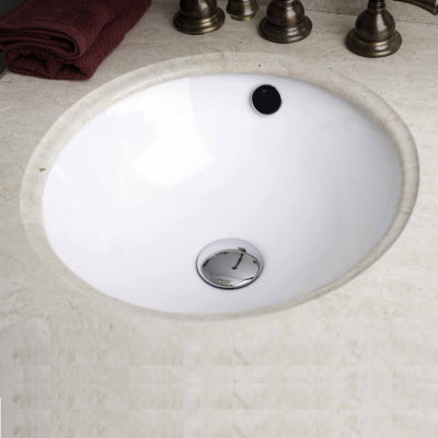 American Imaginations 15-in. W x 15-in. D CSA Certified Round Undermount Sink In White Color