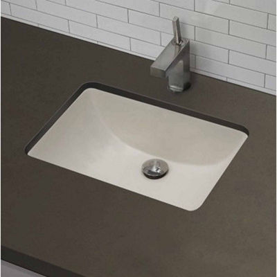American Imaginations 20.75-in. W x 14.35-in. D CSA Certified Rectangle Undermount Sink In Biscuit Color