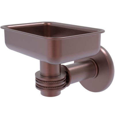Allied Brass Continental Collection Wall Mounted Soap Dish Holder with Dotted Accents