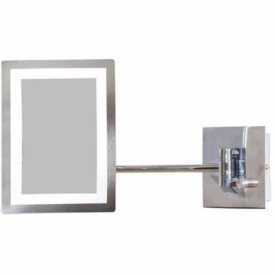 American Imaginations Rectangle Brass Led Bathroom Mirror