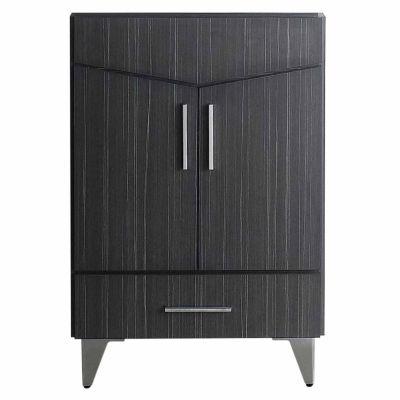 American Imaginations Zen Rectangle Floor Mount Modern Plywood-Melamine Vanity Base Set Only In DawnGrey