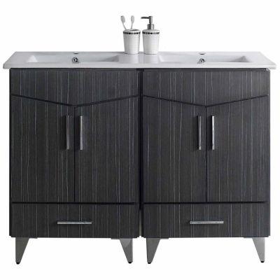 American Imaginations Zen Rectangle Floor Mount Single Hole Center Faucet Vanity Set