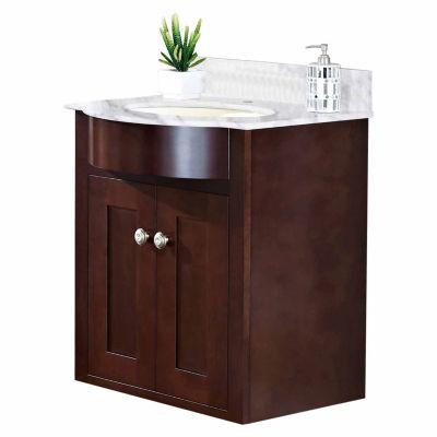 American Imaginations Tiffany Rectangle Wall MountSingle Hole Center Faucet Vanity Set