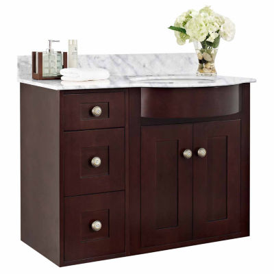 American Imaginations Tiffany Rectangle Wall Mount8-in. o.c. Center Faucet Vanity Set