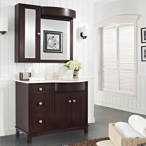 American Imaginations Tiffany Rectangle Floor Mount 4-in. o.c. Center Faucet Vanity Set