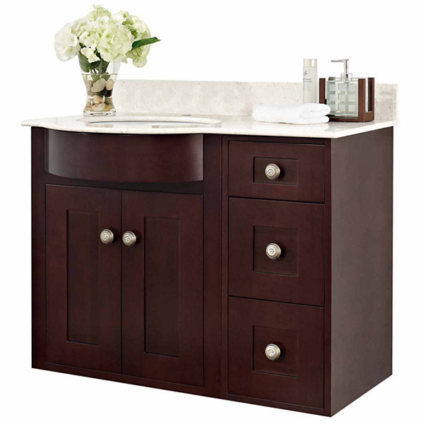 American Imaginations Tiffany Rectangle Wall MountSingle Hole Center Faucet Vanity Set