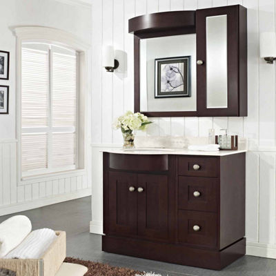 American Imaginations Tiffany Rectangle Floor Mount Single Hole Center Faucet Vanity Set